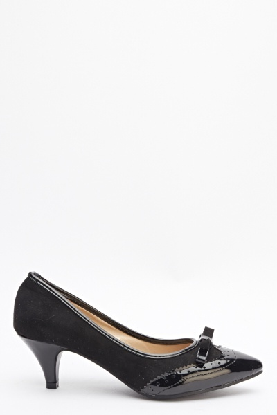 Pointed Contrast Court Shoes