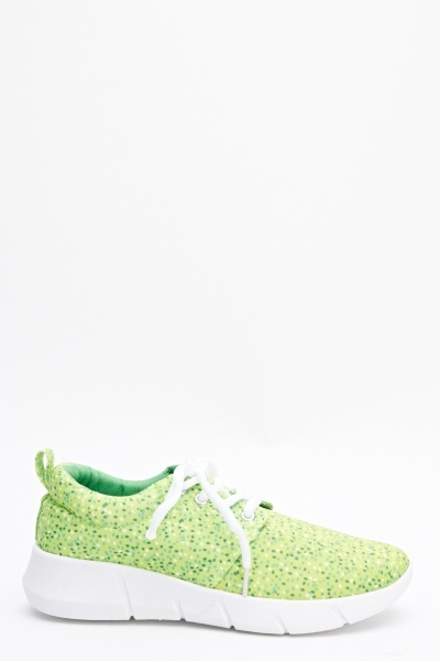 Polka Dot Print Trainers