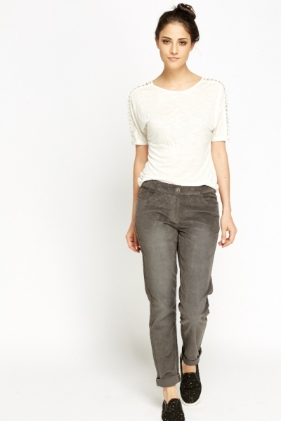 Velveteen Regular Fit Trousers