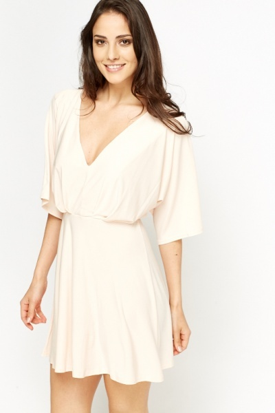 Plunge Wrap Mini Dress