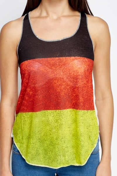 Germany Flag Print Front Top