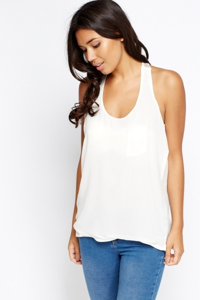 Lace Back Sleeveless Top