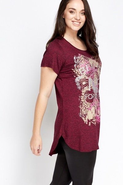 Long Printed Casual Top