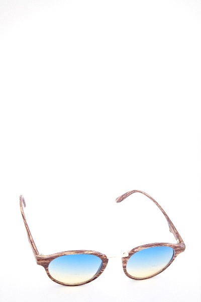 Detailed Round Coloured Sunglasses