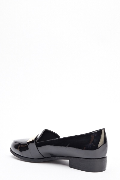 Black PU Loafers