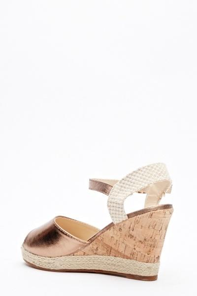 5efaca0f062d Bronze Contrast Cork Wedge Sandals - Just £5