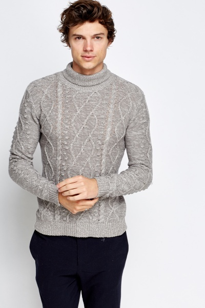 Speckled High Neck Jumper