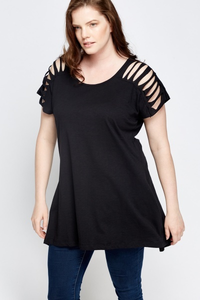 Cut Out Sleeve Top
