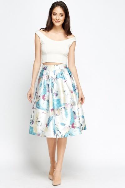 Geo Print Midi Skater Skirt - Just £5