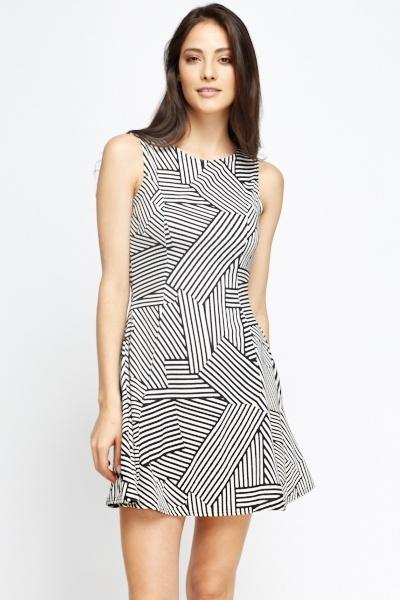 Image of Mono Geo Swing Dress