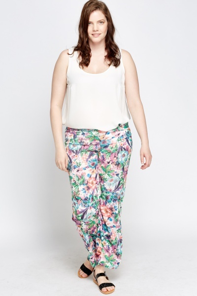 Green Floral Trousers