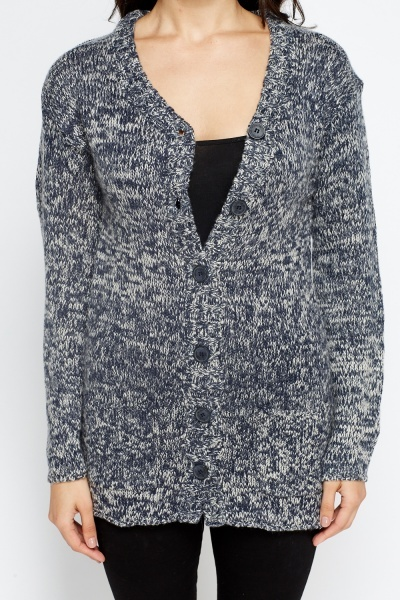 Speckled Middle Blue Cardigan