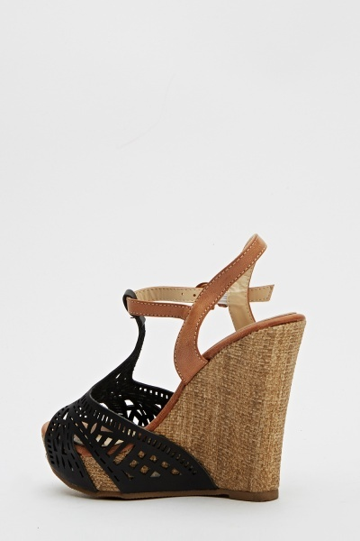 Cut Out Front Wedge Shoes