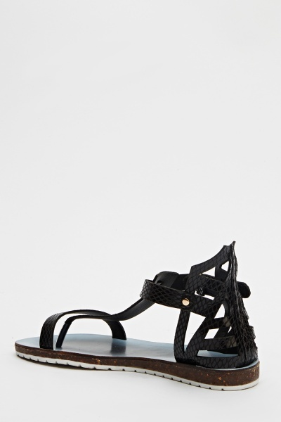Cut Out Strappy Sandals