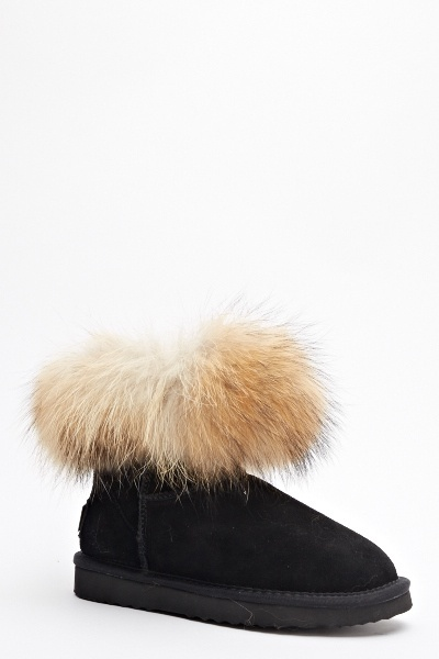 077a514457971 Faux Fur Trim Ankle Boots - Just £5