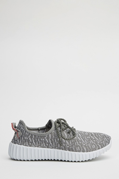 Speckled Lace Up Trainers
