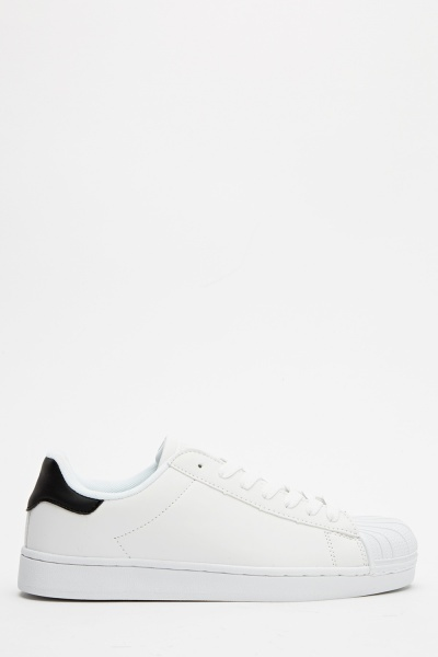 Mens Textured Front Casual Trainers