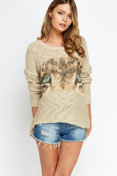 Animal Eye Printed Jumper