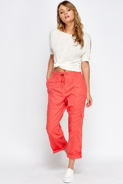 Cotton Blend Pocket Side Trousers