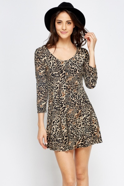 Animal Printed Swing Dress