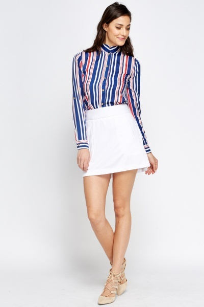 Mono Stripe Fitted Blouse