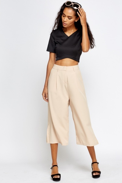 High Waisted Cropped Trousers
