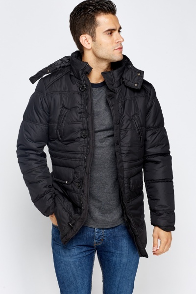 Quilted Regular Fit Coat
