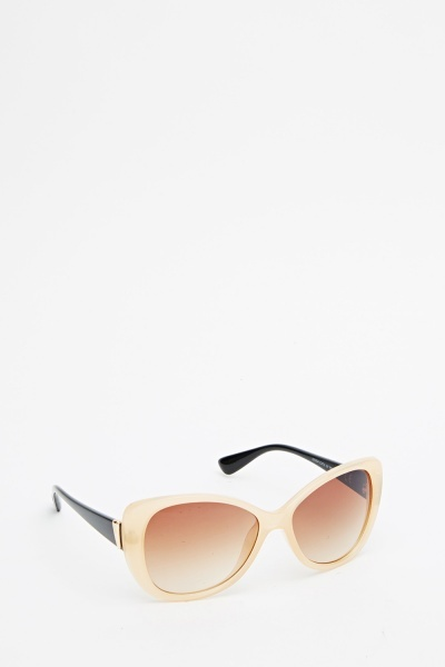 Coloured Mirrored Butterfly Sunglasses