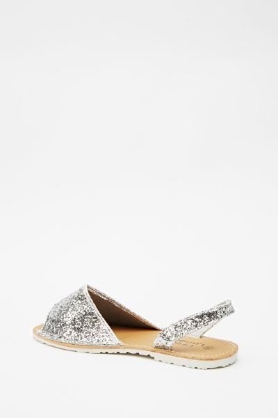 glitter embellished slip on shoes just 163 5