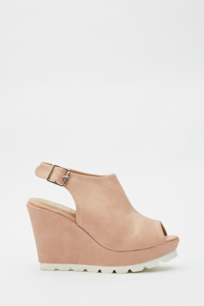Sling Back Wedge Sandals