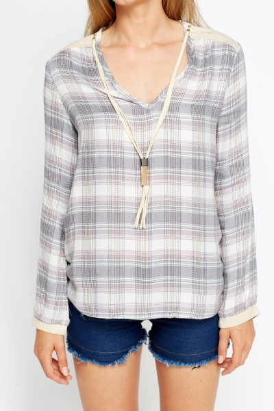 Check Casual Blouse