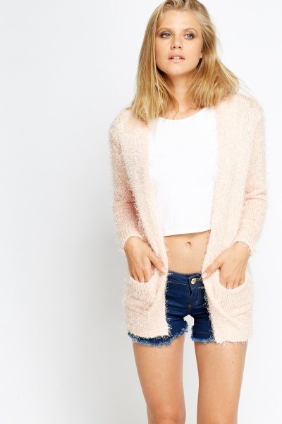 Eyelash Knit Long Cardigan