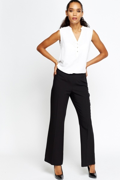 Flare Black Trousers