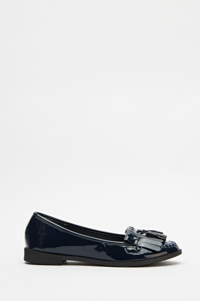 PVC Tassel Front Loafers