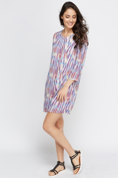 Marble Splash Tunic Dress