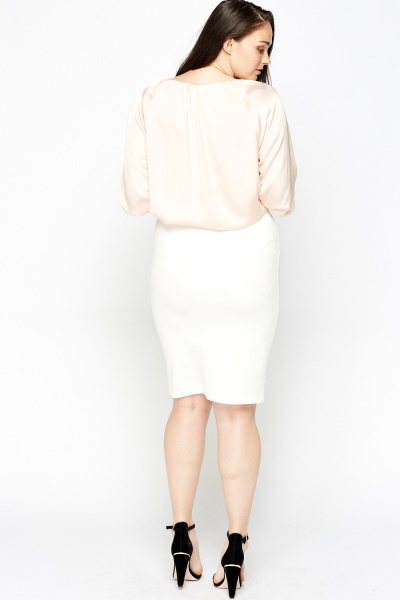 Elasticated Pencil Skirt