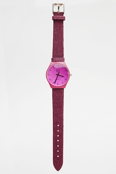 Analog Contrast Strap Watch