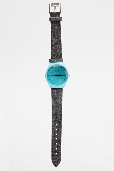 Image of Analog Contrast Strap Watch