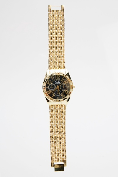 Metal Strap Diamante Watch