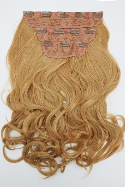 Image of Curly Clip In Hair Extensions