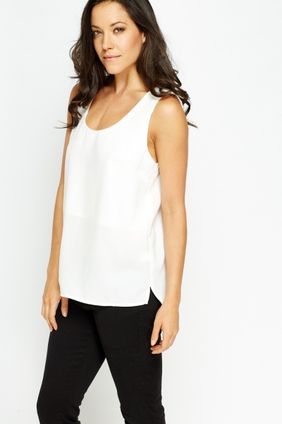 Entrusted Cut Out Back Top