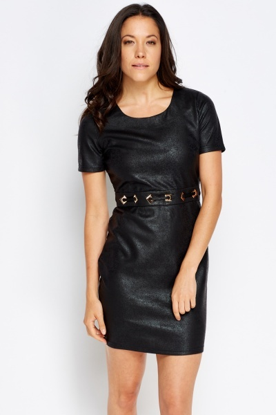 Metallic Waist Bodycon Dress
