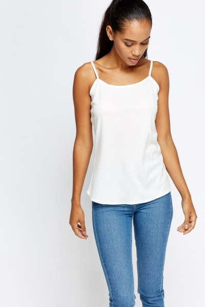 Casual White Cami Top