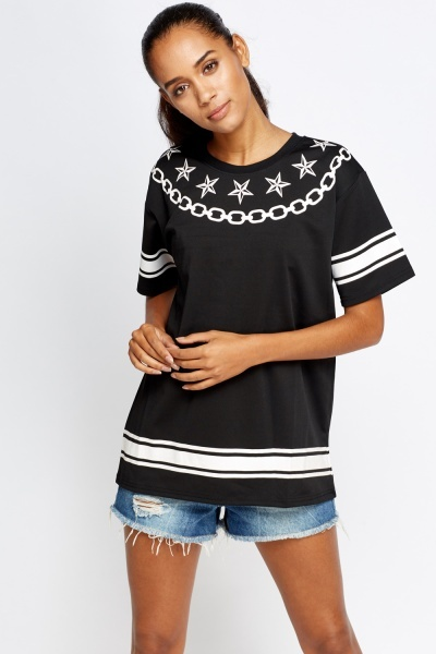 Printed Jersey Top