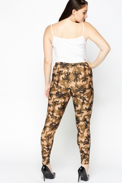 Olive Camouflage Leggings
