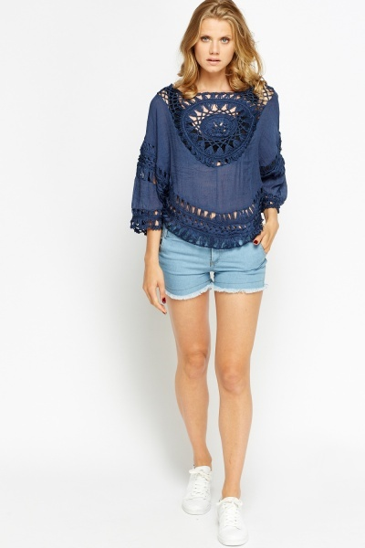 Crochet Insert Poncho Top