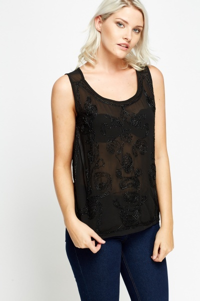 Stitched Front Casual Vest Top