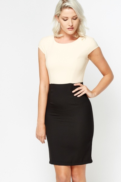 Mono Sleevless Office Dress