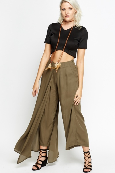Overlay One Sided Cropped Trousers