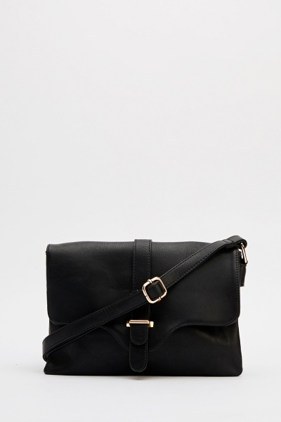 Classic Faux Leather Crossbody Bag